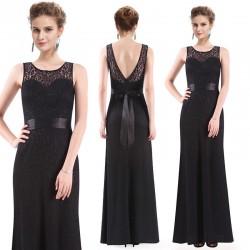 dlouhé krajkové černé společenské šaty Sisi S