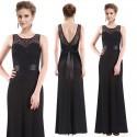 dlouhé krajkové černé společenské šaty Sisi