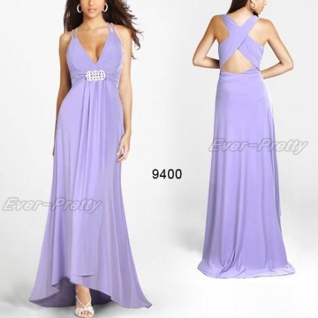 dlouhé světle fialové společenské šaty Hedvika XXL