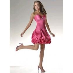 Luxusní růžové plesové šaty na míru