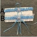 modrý podvazek pod svatební šaty pro nevěstu - varianty