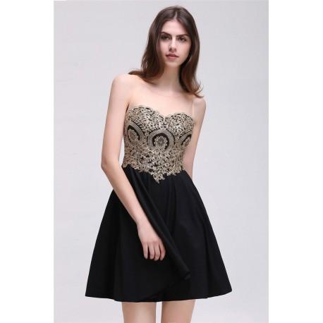 černé krátké společenské šaty do tanečních Valerie M