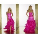 růžové plesové společenské šaty Julia M-L