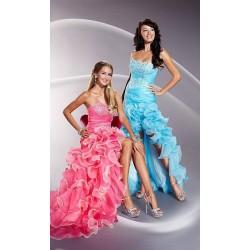 růžové plesové společenské sexy šaty S-L
