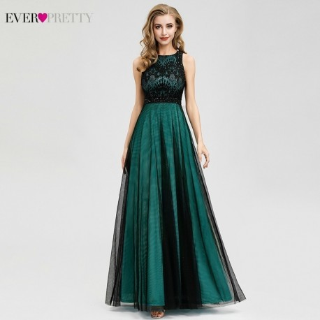 Zelené plesové šaty dlouhé Evita L