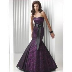 fialovo-černé plesové šaty Dita na míru