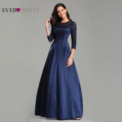 tmavě modré plesové šaty s dlouhým rukávem M
