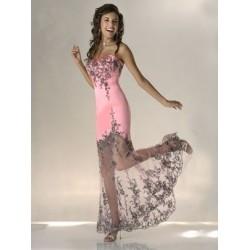 Sexy společenské růžové šaty na míru