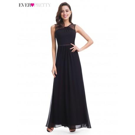 jednoduché černé společenské šaty na ples XL
