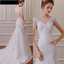 bílé upnuté svatební šaty Silva M