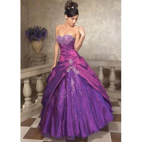 Krásné fialové společenské maturitní šaty na míru