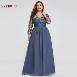 modré plesové šaty pro matku nevěsty nebo ženicha 4XL