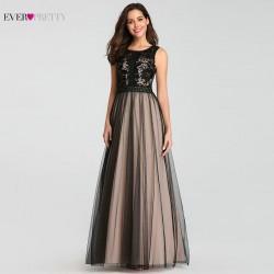 krémové dlouhé společenské šaty na ples Any XL