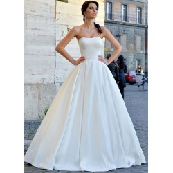 bílé svatební šaty saténové 2020 Alice M-L