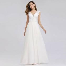 jednoduché svatební šaty šifónové S