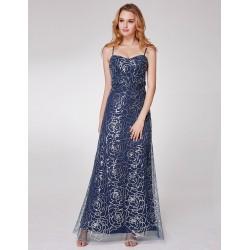 tmavě modré dlouhé společenské šaty pro matku nevěsty L