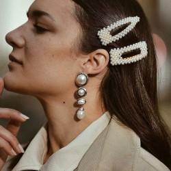 perličkové vlasové sponky do společenského účesu - stříbrné pinetky