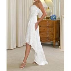 polodlouhé svatební šaty Alyce šité na zakázku