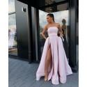 světle růžové plesové šaty na maturitní ples XS-S