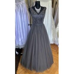 tmavě šedé plesové šaty na maturitní ples Annie XS-S