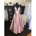 luxusní rosegold plesové šaty na maturitní ples Betty XS-S