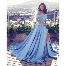 světle modré plesové šaty na maturitní ples Tory XS-S