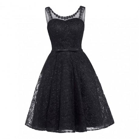 krátké černé plesové šaty na ples Erin XS-S