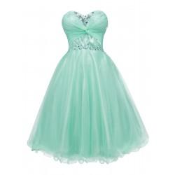 krátké mintové společenské šaty na ples Monica XS-S