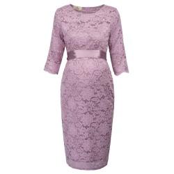 krátké fialové společenské šaty krajkové Mina