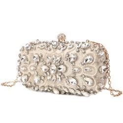 luxusní štrasová společenská kabelka, psaníčko