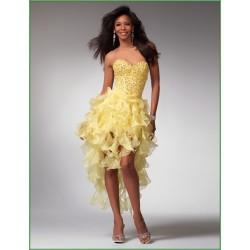 Sexy žluté plesové šaty na míru