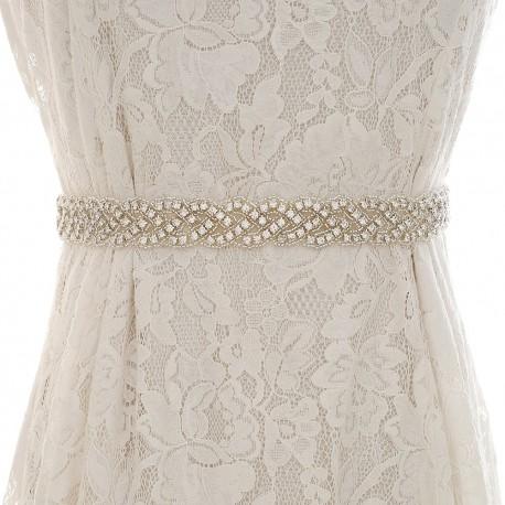 štrasový pásek na svatební šaty SP001