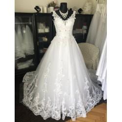 bílé princeznovské svatební šaty Teresia XS-S