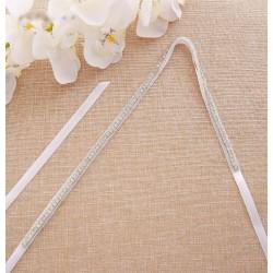 svatební štrasový pásek na svatební šaty SP003