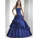 Modré společenské nebo maturitní šaty na míru