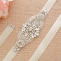 svatební štrasový pásek na svatební šaty SP004