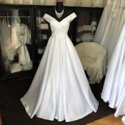 saténové svatební šaty Eleanora XS-S