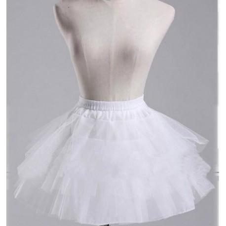 krátká bílá retro rockabilly 50s spodnička