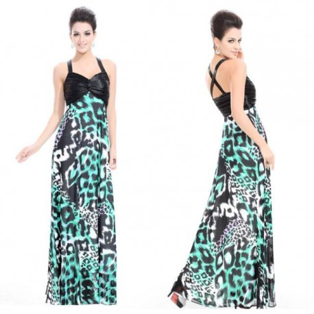 luxusní dlouhé společenské tygrované šaty M