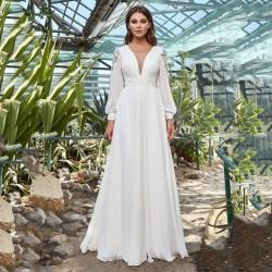 svatební šaty boho s rukávky Janice XS-S