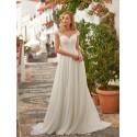 antické šifónové svatební šaty na ramínka Annie M