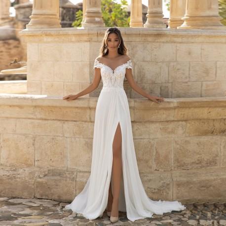 antické boho svatební šaty Hannah XS