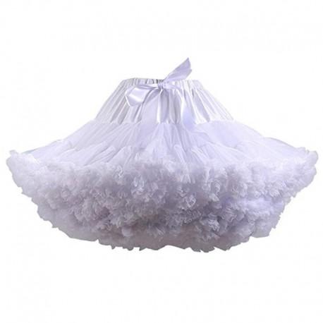 krátká extra bohatá spodnička pod šaty bílá