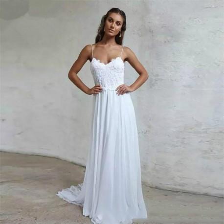 boho svatební šaty na louku Veronica XS