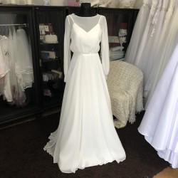 boho svatební šaty s dlouhými rukávy Eliza XS-S