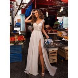 bílé boho svatební šaty 2021 Cate M