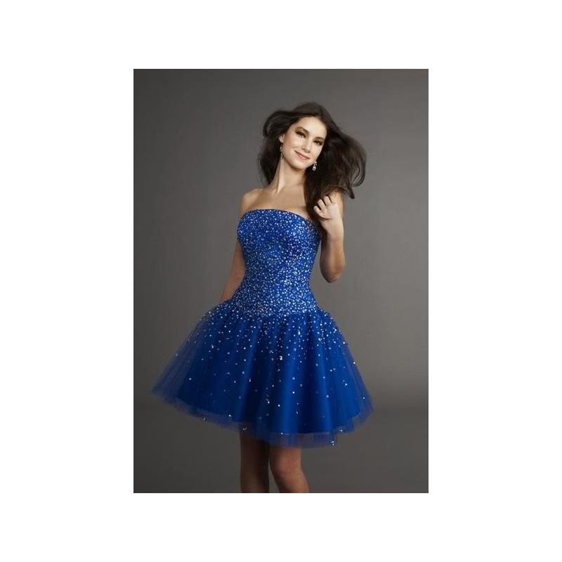 33cc5907d Luxusní modré krátké společenské šaty na míru - Hollywood Style E ...