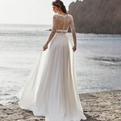 boho svatební šaty s rukávky Melody S