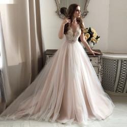 krémové svatební šaty s tylovou sukní Heather XS