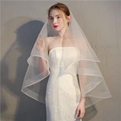 svatební závoj tylový s lemováním - výběr barev